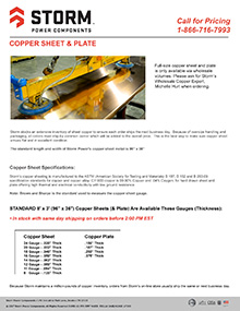 COPPER SHEET & PLATE