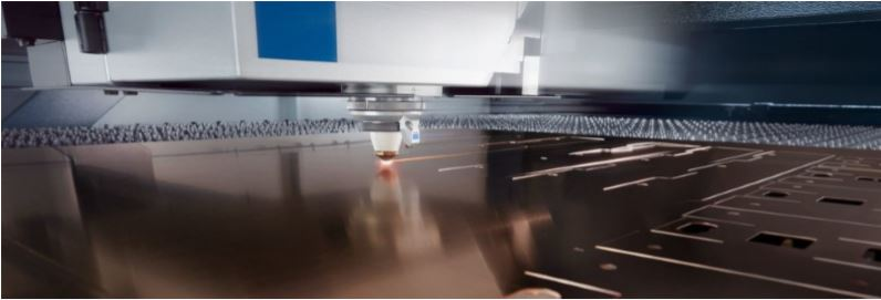 laser cutter in action