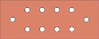 Barra de tierra de radio de jamón de 5 pulgadas